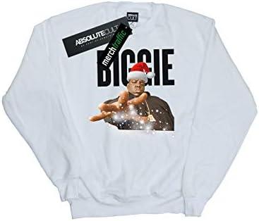 Notorious Big Herren Biggie Christmas Hat Sweatshirt Weiß XXX-Large