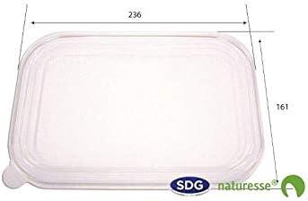 SDG - Tapa de PLA biodegradable transparente para barquetas 12859 ...