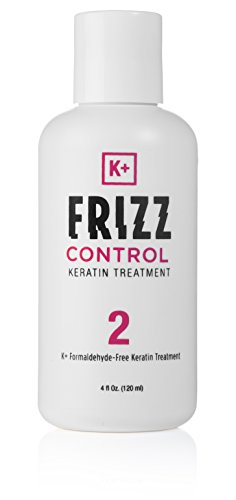 Keratin Hair Treatment - 100% No Frizz Guarantee, Solution for Incredible Hair Straightening (Formaldehyde Free, Paraben & SLS Free, Frizz Control Hair Product) 4 Oz / 120ml - K+ Frizz Control