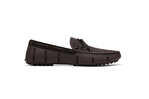 SWIMS Men's Lux Lace Woven Loafer Shoes - Brown/Navy, 10