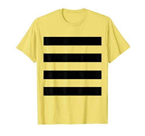 Last Minute Halloween Easy Bee DYI Costume Bumblebee Shirt -