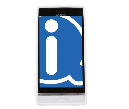 iTALKonline Sony LT22i Xperia P White TPU S Line Wave Hybrid Gel Skin Case Protective Jelly Cover