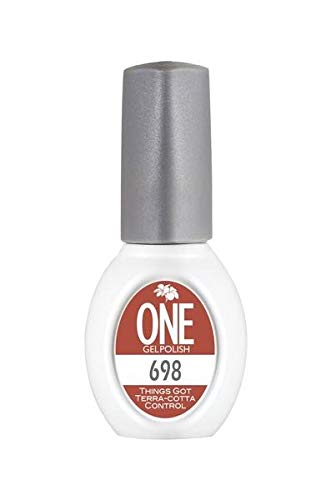 One Gel, Premium Gel Polish Color, Long Lasting Formula For Manicure, Pedicure, Salon, and Spa, 0.5oz (Things Got Terra-cotta Control, 698)