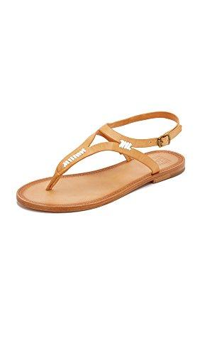 FRYE Women Ruth Whipstitch Flat Sandal Natural-73768