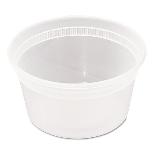 Deli Container With Lid - Clear, Combo Pack, Microwaveable, 12 Ounce -- 240 Per Case.