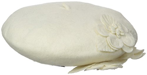 Betmar Women's Flower Beret, White, One Size