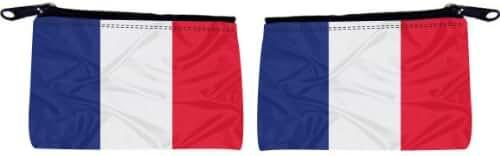 Rikki Knight France Flag Design Scuba Foam Coin Purse