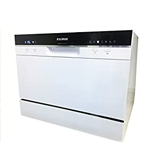 SoloRock 6 Settings Countertop Dishwasher - White Color