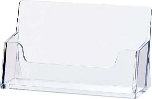 "Helit H2350902 - Visitenkartenständer ""the helpdesk"", glasklar"