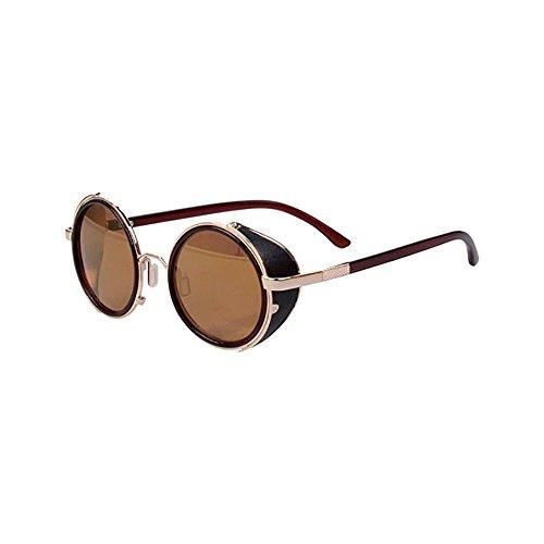Dorara Round Retro Polaroid Sunglasses Driving Polarized Glasses for Men - Online Polaroid Sunglasses