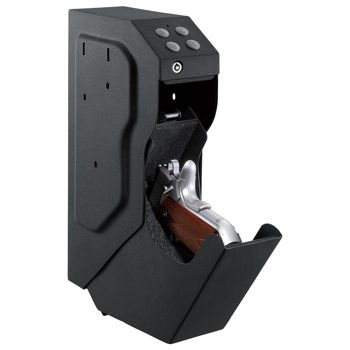 VelocityVault 18-gauge Steel Cannon Handgun Safe Features Fast Activation Drop-down Drawer