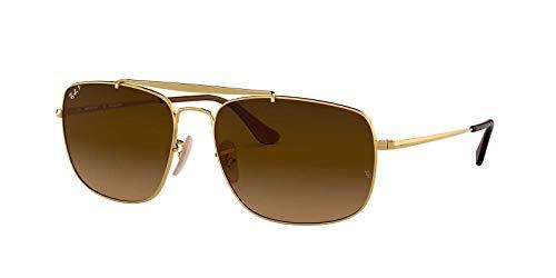 Ray-Ban Man Sunglasses, Gold Lenses Steel Frame, 61mm (Steel Ban Frame Ray)