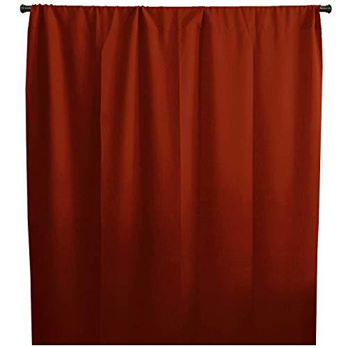 - lovemyfabric 100% Polyester Poplin Window Curtain Panel/Stage Backdrop/Photography Backdrop-Burnt Orange (1, 58