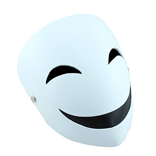 YUFENG Resin Masks Halloween Collector Props The Film Theme Black Bullets Hiruko Smiley Mask (Hiruko smile mask)