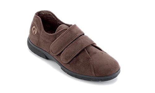 EASYB - Zapatillas de estar por casa de Terciopelo para mujer marrón