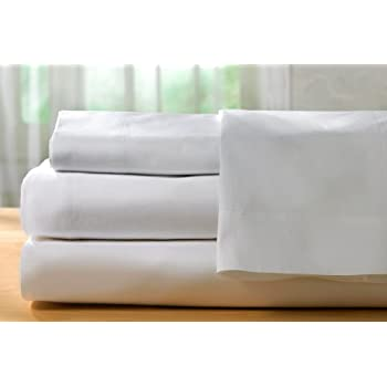 HotelSheetsDirect 4 Piece Premium Microfiber Bed Sheet Set - 1600 Thread Count, Wrinkle, Fade, & Stain Resistant. (Full, White)
