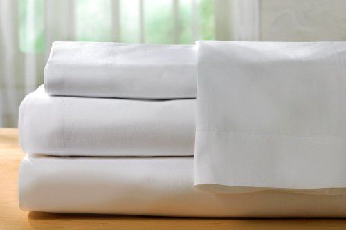 Pacific Linens White Pillowcases, 180 Thread Count 2-Pack Si