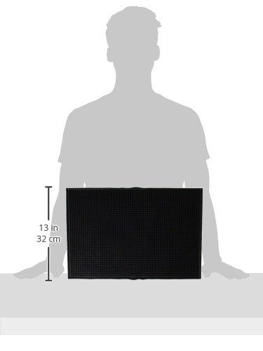 18'' x 12'' Bar Service Mat, Black