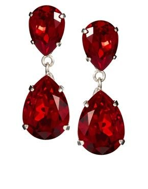 emona red ruby swarovski crystal jewelry en stud earrings