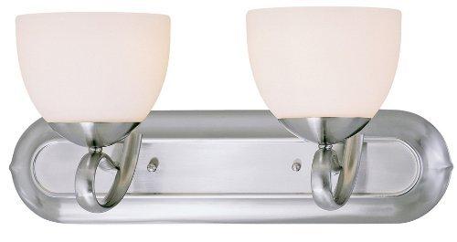 Classic Lighting 71012 BN Odyssey, Glass and Steel, Vanity Lighting, Brushed Nickel by Classic Lighting