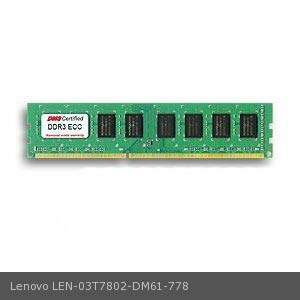 72 Pin Dimm - DMS Compatible/Replacement for Lenovo 03T7802 ThinkServer TS140 70A5 4GB DMS Certified Memory DDR3-1600 (PC3-12800) 512x72 CL11 1.5v 240 Pin ECC DIMM - DMS