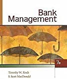 Bank Management, Koch, Timothy W. and MacDonald, S. Scott, 1439044937