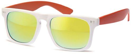 lunettes Chic millésime reflète wayfarer de 400 net soleil points des des blancs Nerd UV multicolor transparents AAn1rHgfw