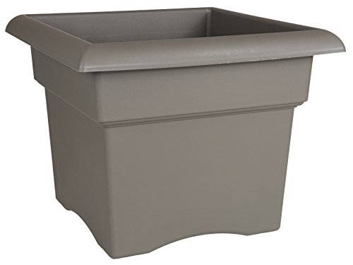 Bloem Fiskars 18 Inch Veranda 5 Gallon Box Planter, Color Cement (57718), 18-Inch,