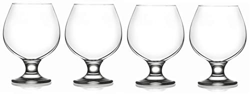Epure Milano Collection 4 Piece Glass Set (Brandy (13.25 oz))