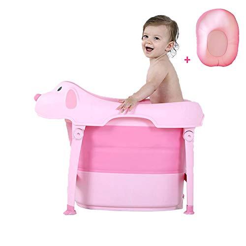 Lzx Bañera para Bebé y Niño para Baño Infantil Plegable Portátil y Segura protección Ambiental PP+TRR-Adecuado para...