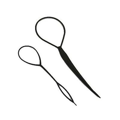 Generic New 2pcs Magic Topsy Tail Hair Braid Ponytail Styling Maker Clip Tool (Random Color)
