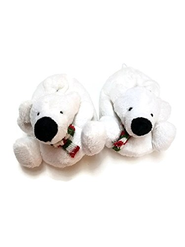 Baby Toddler Infant Newborn Plush Fleece Animal Polar Teddy Bear Slippers Booties Socks Shoes (9-12 months) (Plush Booties)