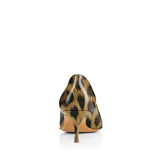 Nro 15 Pumput 5cm Kiiltonahkakenkiä Kengät Teräväkärkiset Fsj 5 D'orsay 4 Meitä Naiset Leopardi Tulostaa Mekko qzZRg