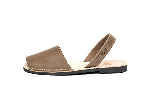 510 - Avarca Pons Classic Style Women - Taupe - 37 ( US 7 ) by Pons