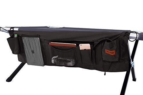Tough Outdoors Cot Organizer - Lightweight & Portable Camping Organizer Bag - Keep Your Valuables Safe & Secure. Great for Traveling, Hunting & Backpacking - Perfect Companion to The Camping Cots