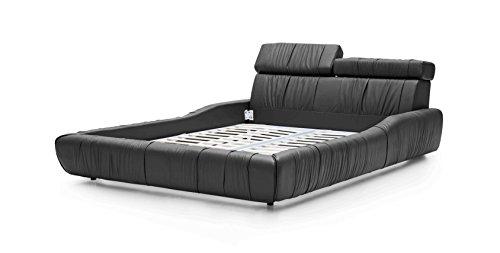 Bedroom Whiteline Modern Living Steward Bed Black/King modern beds and bed frames