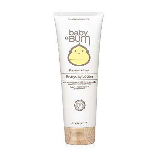 Baby Bum Everyday Lotion | Moisturizing Baby Lotion for Sensitive Skin with Shea and Cocoa Butter | Fragrance Free | Gluten Free - 8 OZ Bottle