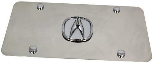 Acura 3D Logo Chrome Stainless Steel License Plate
