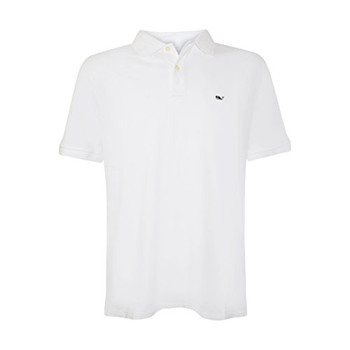 Vineyard Vines Mens Classic Fit Short Sleeve Stretch Polos  Small  White Cap