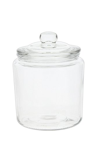 Apothecary Kitchen Jars Country - Park Hill Vintage Style Clear Glass Apothecary Jar with Lid (6