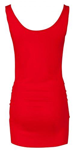 Happy Mama. Para Mujer Camiseta Top premamá. Cuello Redondo. Sin Mangas. 792p (Rojo, EU 38/40, L)