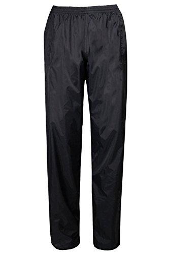 Mountain Warehouse Pakka Womens Overtrousers -Waterproof Ladies Pants Black - Warehouse Womens