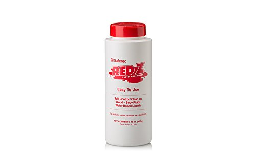 Safetec Red Z Spill Control Solidifier, 15 oz. shaker top bottle (12 bottles/case)