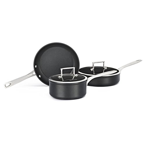 KitchenAid KCH2S5BKM Professional Hard Anodized Nonstick 5-Piece Cookware Set - Black