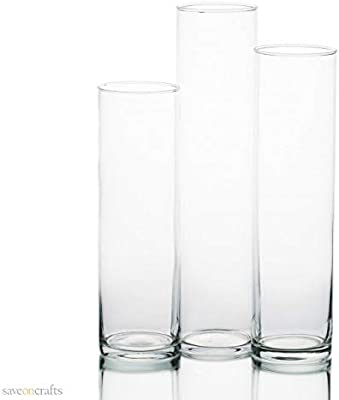 Amazon Ikea Asia Cylinder Vase Set Of 3 Clear Glass Home
