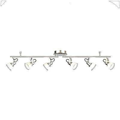4 ft. 6-Light Chrome Integrated LED Track Lighting Kit
