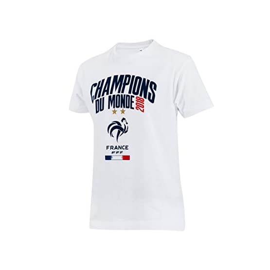 Equipe de FRANCE de football T-Shirt FFF - Champion du Monde 2018 - Collection Officielle Taille Enfant