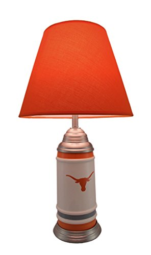 University Texas Lamp - University of Texas Longhorns Logo Ceramic Table Lamp 21 Inches Tall