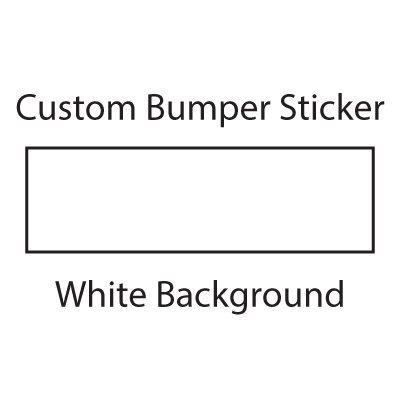 WYCO Products Custom Bumper Sticker Customizable Bumper Sticker (2.5