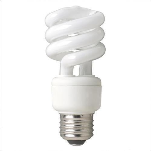 (Case of 6) TCP 80101435 14-Watt SpringLight Compact Fluorescent Spiral Light Bulb, 35K Color Temperature